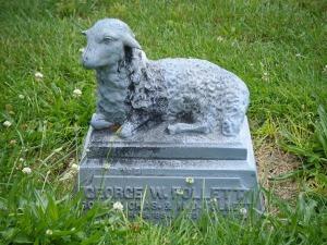 Zinc lamb, Cedar Hill Cemetery, Newark, Ohio