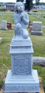 Praying child marker, Union Grove Cemetery, Canal Winchester, Ohio