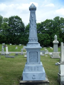 Rager monument, Union Grove Cemetery, Canal Winchester, Ohio
