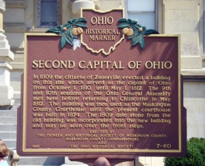 Second Capitol of Ohio historical marker