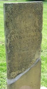 Sandstone tombstone, Old Colony Burying Ground, Granville, Ohio