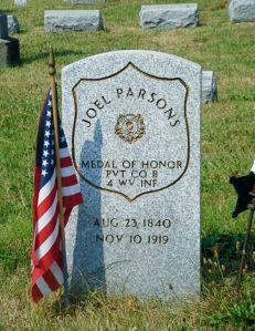 Joel Parsons, Union Cemetery, Columbus, Ohio