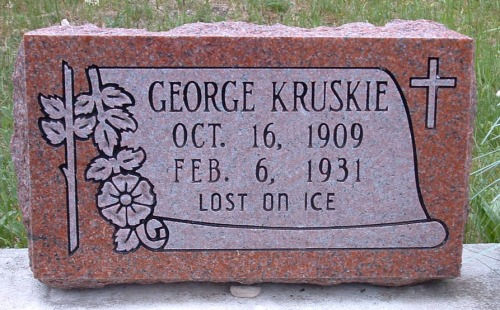 George Kruskie, Holy Cross Cemetery, Cross Village Township, Emmet County, Michigan. Photo take by Amy Crow, all rights reserved.