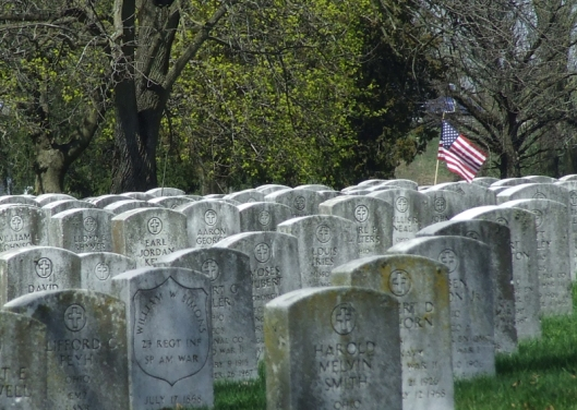 Veteran Section, Green Lawn Cemetery, Columbus. Photo by Amy Crow, 2 April 2007. All rights reserved.
