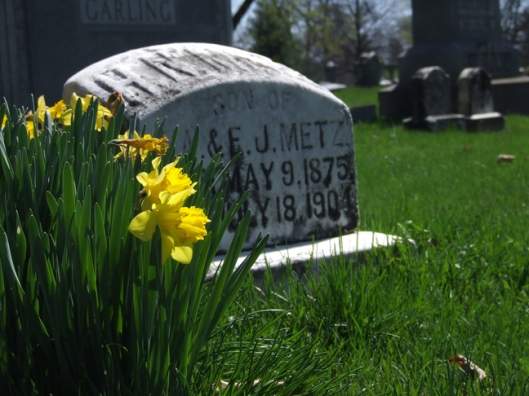 Green Lawn Cemetery, Columbus, Ohio. Photo by Amy Crow, 2 April 2007; all rights reserved.